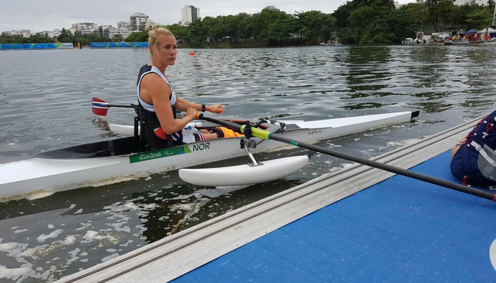 SKUFFET: Birgit Skarstein må ut i oppsamlingsheat i singlesculler i Paralympics. Foto: Thomas Haarstad