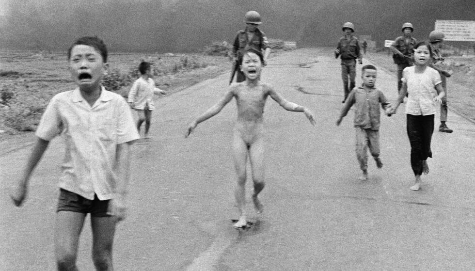 BLIR LOV: Dette ikoniske bildet fra Vietnam-krigen fra 1972. Re Foto: AP Photo/Nick Ut, NTB Scanpix