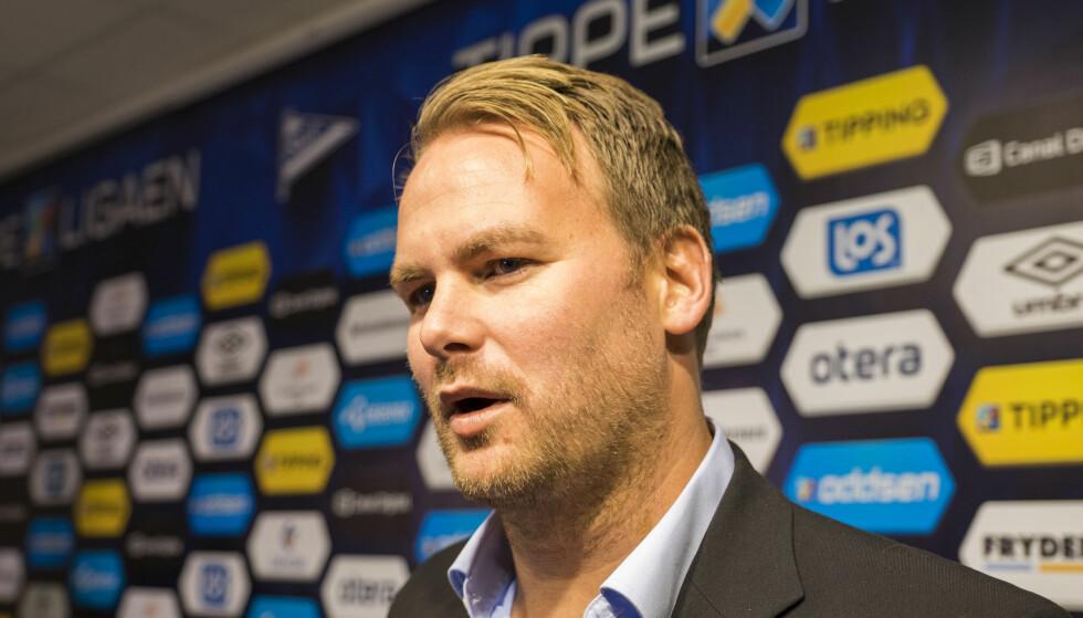 LANGT NEDE: Starts administrerende direktør, Even Øgrey Brandsdal, la ikke mye imellom etter nok et Start-tap. Foto: Tor Erik Schrøder / NTB Scanpix
