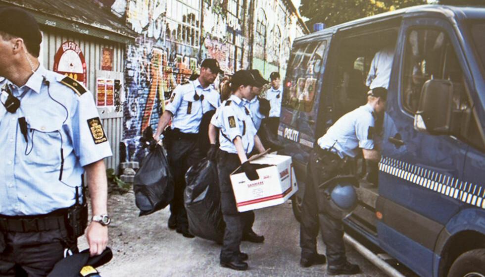 Hvert år beslaglegger dansk politi tonnevis med hasj i Christiania