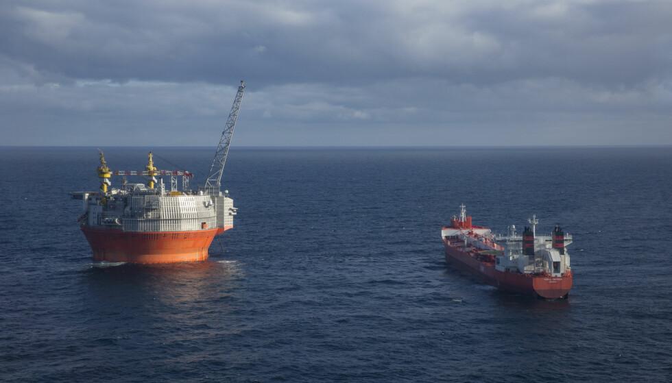 TILHØRER FINNMARK: Goliat-feltet utenfor Hammerfest er det første oljefeltet i produksjon i norsk del av Barentshavet.Foto: Jan-Morten Bjørnbakk / NTB scanpix