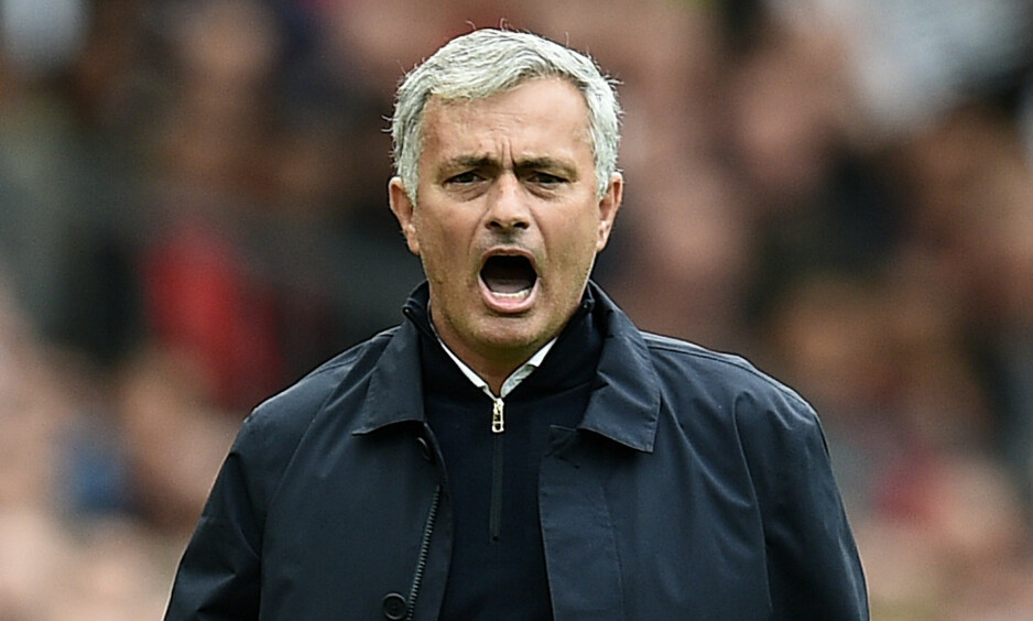 SKUFFET: Manchester United-manager Jose Mourinho. Foto: AFP PHOTO /