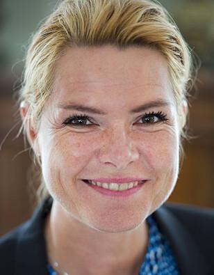 UTSETTER: Som et ledd i den danske regjeringens 2025-plan, har Den danske utlendings- og integrasjonsministeren Inger Støjberg fra partiet Venstre, sagt at de 491 resterende for 2016 kan utsettes til senere. Foto: Emil Langvad / TT