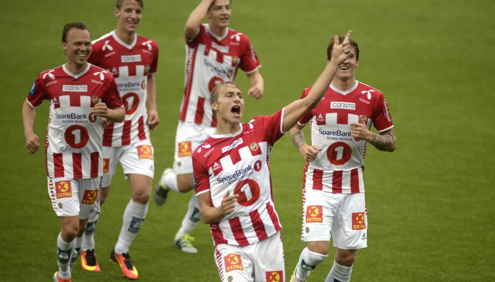 SCORET: Tromsøs Ulrik Yttergård Jenssen scoret 2-0-målet mot Sogndal. Foto: Rune Stoltz Bertinussen / NTB scanpix