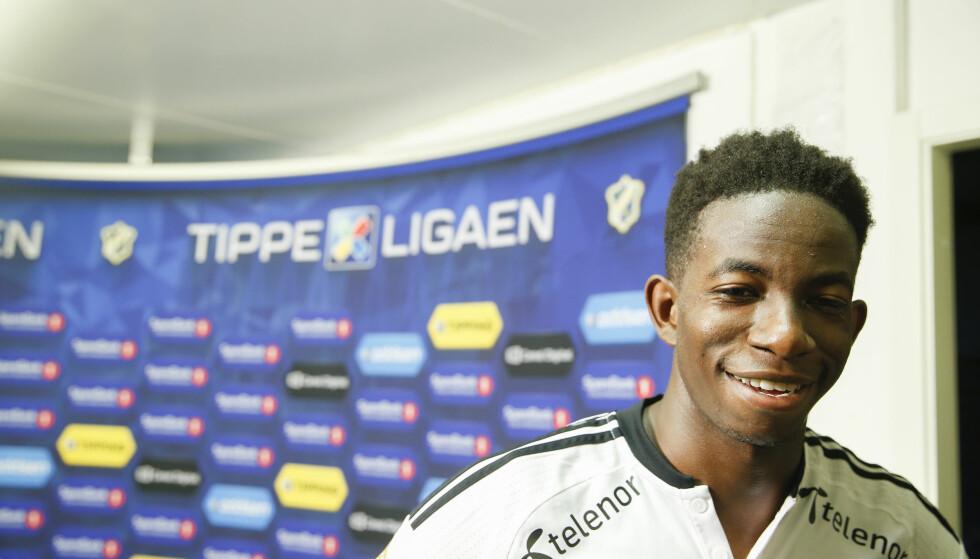 FORNØYD: Mushaga Bakenga var fornøyd etter 2-0-seieren over Stabæk Foto: Terje Pedersen / NTB scanpix