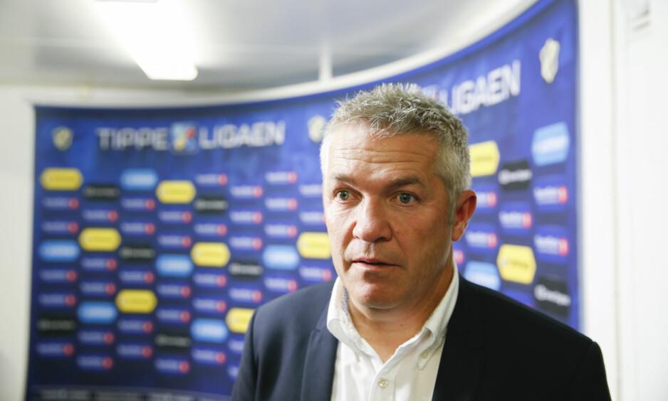 DILEMMA: Rosenborg er suveren i Norge, men ikke god nok for Europa. Det er dilemmaet til trener Kåre Ingebrigtsen. Her etter 2-0-seieren over Stabæk søndag kveld. Foto: Terje Pedersen / NTB Scanpix