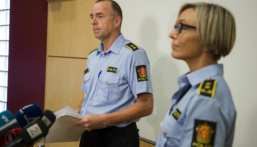 TINA-SAKEN: Bjørn Kåre Dahl og politiadvokat Herdis Traa. Foto: Carina Johansen / NTB scanpix