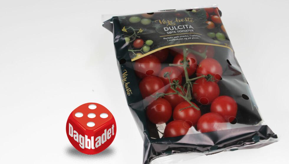 VÅRE BESTE: Dulcita-tomatene fra Rema 1000 falt i smak.
