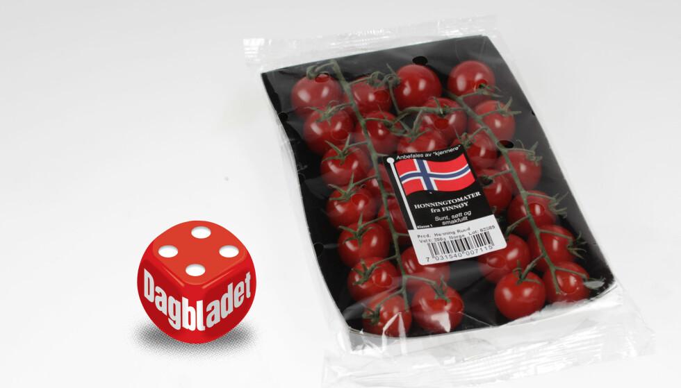 VAKREST: Få tomater kan hamle opp med disse utseendemessig. Dessverre mangler Bunnpris-tomaten fra Finnøy karakter.