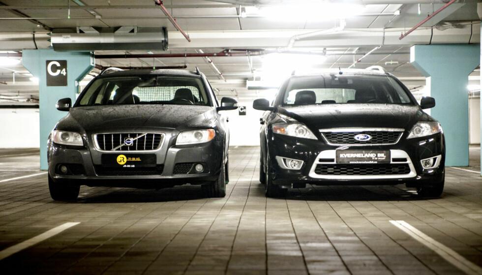 POPULÆRE: Volvo V70 og Ford Mondeo er to av de mest populære bruktbilkjøpene. Vi har testet til sammen fire mellomklasse brukte stasjonsvogner. Foto: Kaj Alver