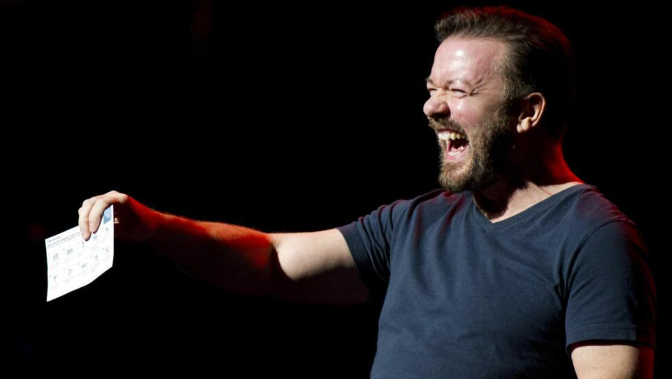DOVEN DYD: Slendrianateister som Ricky Gervais (bildet) har opphøyd intellektuell sløvhet og latskap til en dyd, skriver kronikkforfatteren. Foto AP / Scanpix