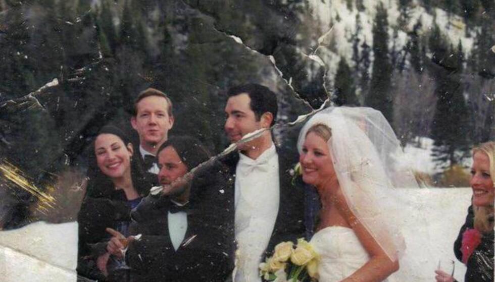DET MYSTISKE BILDET: Dette bryllupsbildet fant Elizabeth Stringer Keefe ved Ground Zero like etter terrorangrepet i 2001. I 13 år lette hun etter eieren. Foto: Privat