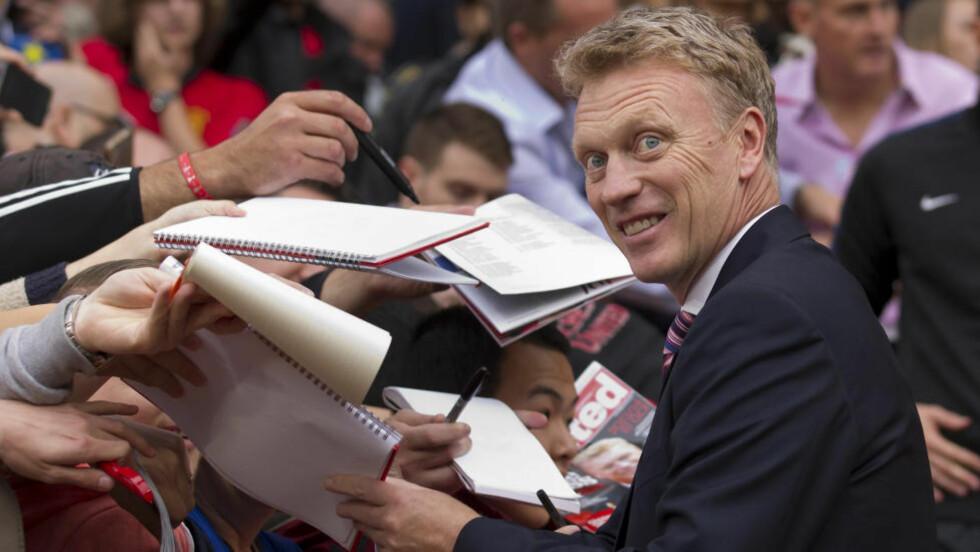 TØFT Å TIPPE:  David Moyes sliter med å se hvem som skal vinne Premier League i år. Foto: Jon Super / AP / NTB Scanpix