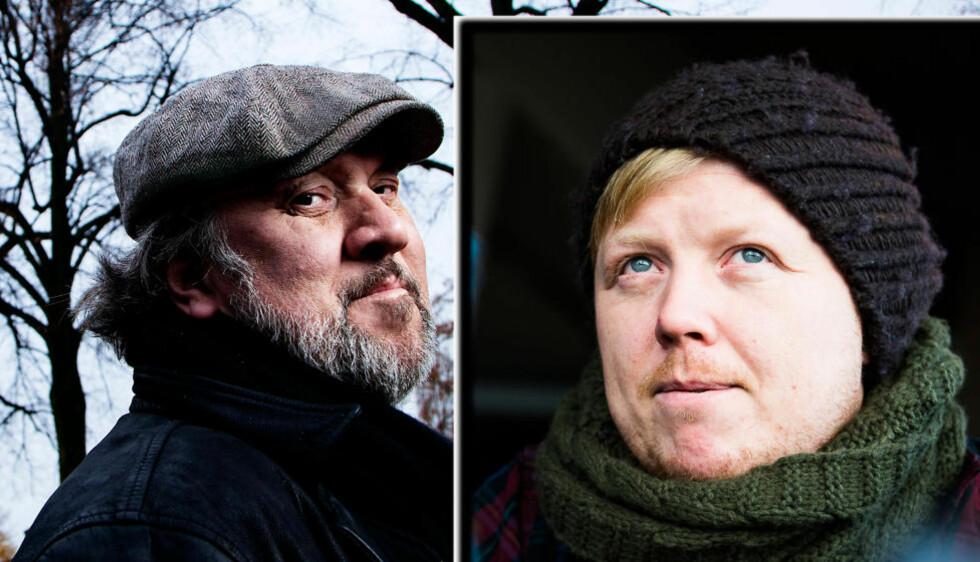 <strong>SLÅSS SAMMEN:</strong> Bjørn Eidvåg og Kurt Nilsen synger om demonene sine. Foto: Foto: Lars Myhren Holand/Håkon Eikesdal