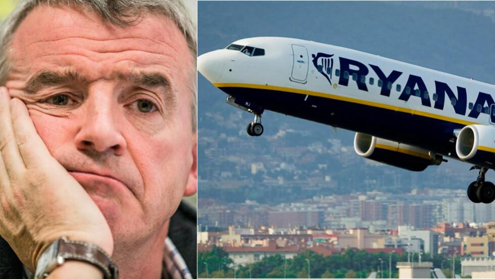 SPARKET PILOT ETTER 26 ÅR: Piloten som denne uka var med på et TV-program der det ble stilt spørsmål ved Ryanairs flysikkerhet, har fått sparken. Ryanair, og sjefen Michael O'Leary (på bildet), står fast ved at pilotene ikke får uttale seg om selskapets flysikkerhet. Foto: Stian Lysberg Solum / NTB scanpix / AFP / JOSEP LAGO