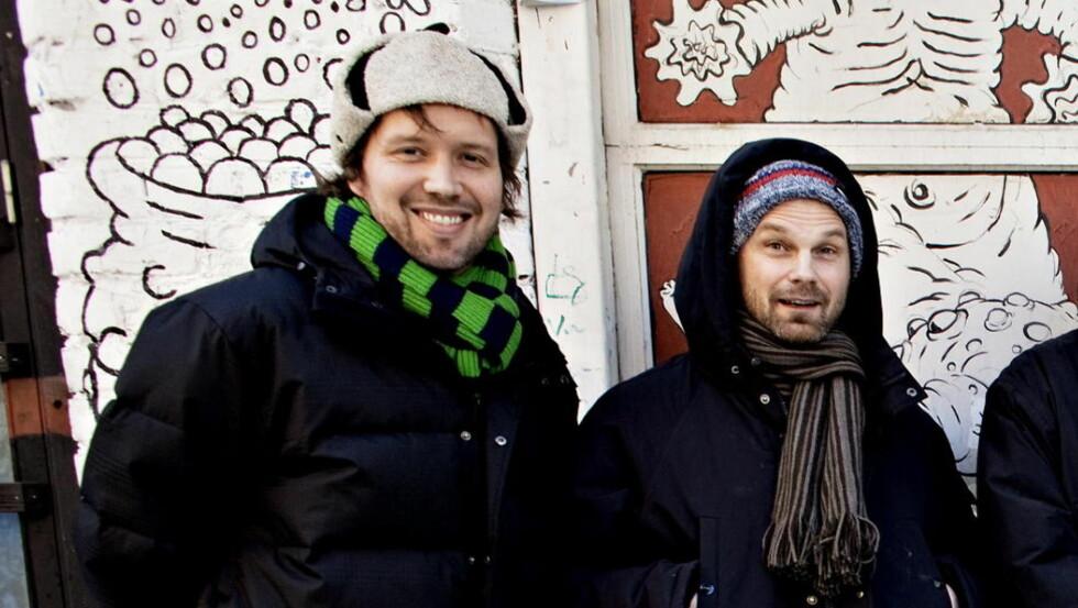 MÅ GÅ:  Guttorm Raa (til venstre) fortsetter som toppsjef i sammenslåtte Warner og Parlophone, mens den gamle EMI Norge-direktør Bjørn Rogstad må finne seg noe annet å gjøre. Her i et bilde fra 2009.   Foto: Lars Eivind Bones/Dagbladet