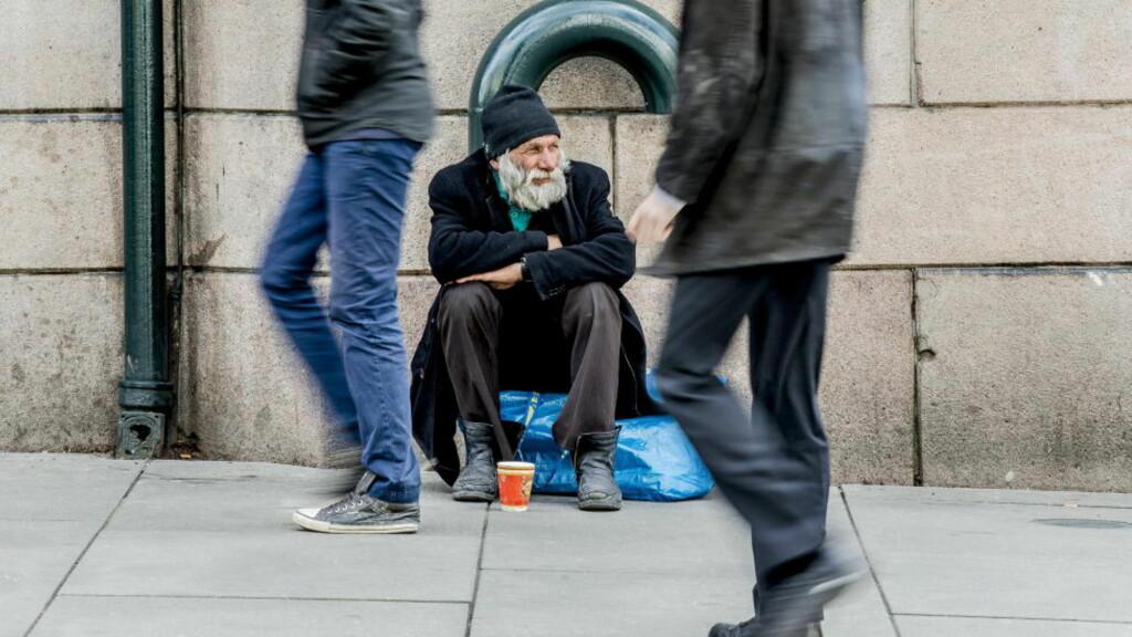 FATTIGDOM:  Oppslutningen om velferd for de svake er synkende, særlig på høyresiden i norsk politikk.Foto: Stian Lysberg Solum / NTB scanpix