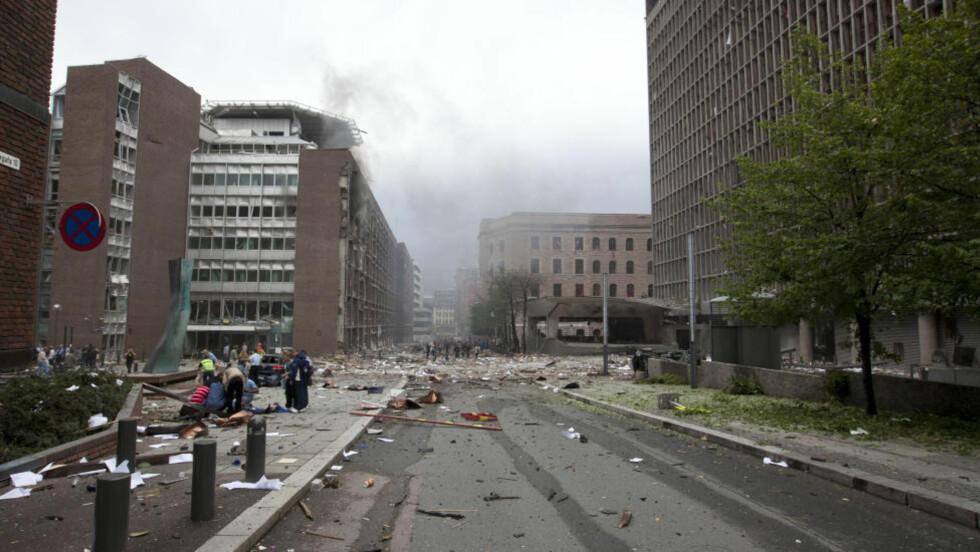 80 METER UNNA BOMBEN: Kvinnen (44) var bare 80 meter unna Regjeringskvartalet da bomben gikk av 22. juli 2011 og sliter med hørselen i dag. 16. august i år startet Kontoret for voldsoffererstatning saksbehandlingen av hennes sak. FOTO: Morten Holm / NTB scanpix