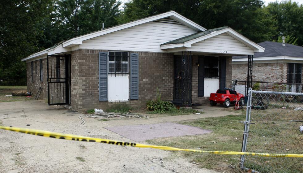 BRANN: Ni personer, hvorav seks barn, ble døde i en brann i Memphis mandag. Foto: AP Photo / Karen Pulfer Focht / NTB scanpix
