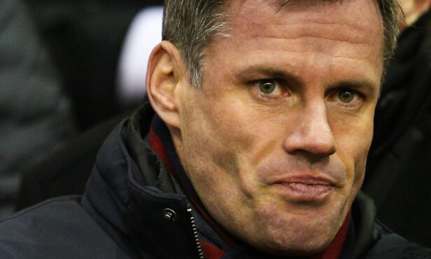 EKSPERT: Jamie Carragher jobber for Sky Sports. Foto: Matt McNulty/JMP/REX/Shutterstock/NTB Scanpix
