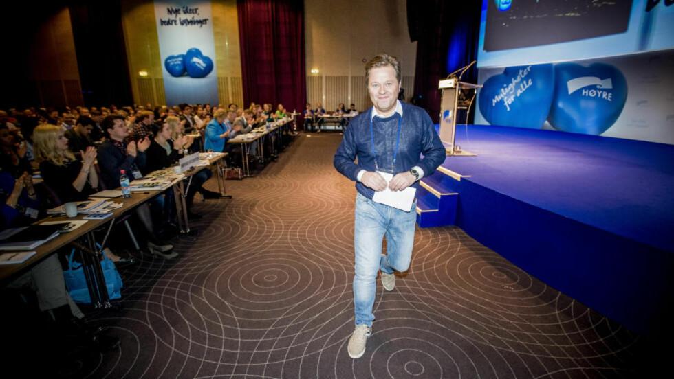 WILD CARD? TV-profil Arne Hjeltnes klarer å se for seg seg selv som minister. Foto:Thomas Rasmus Skaug / Dagbladet.