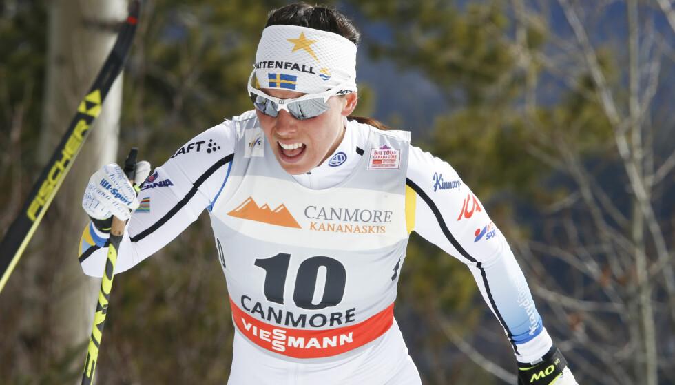 ASTMAMEDISIN: Charlotte Kalla, svensk skistjerne, er glad for at bruken av astmamedisin i langrenn skal granskes. Foto: Terje Pedersen / NTB scanpix
