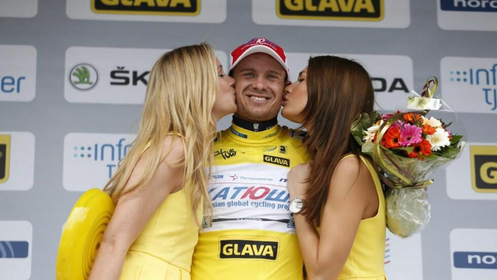 VANT:  Alexander Kristoff vant den første etappen av Tour of Norway, etter å ha spurtslått Edvald Boasson Hagen. Foto: Erlend Aas / NTB scanpix
