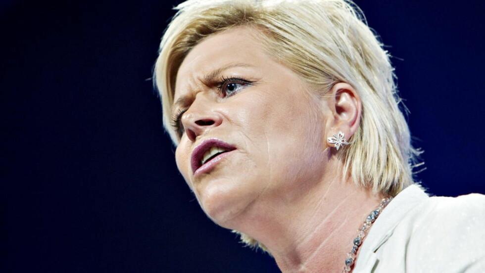 MODELLSKEPTIKER:  Siv Jensen er i mot den norske modellen, men kan ikke definere den. Nina Hansen / Dagbladet