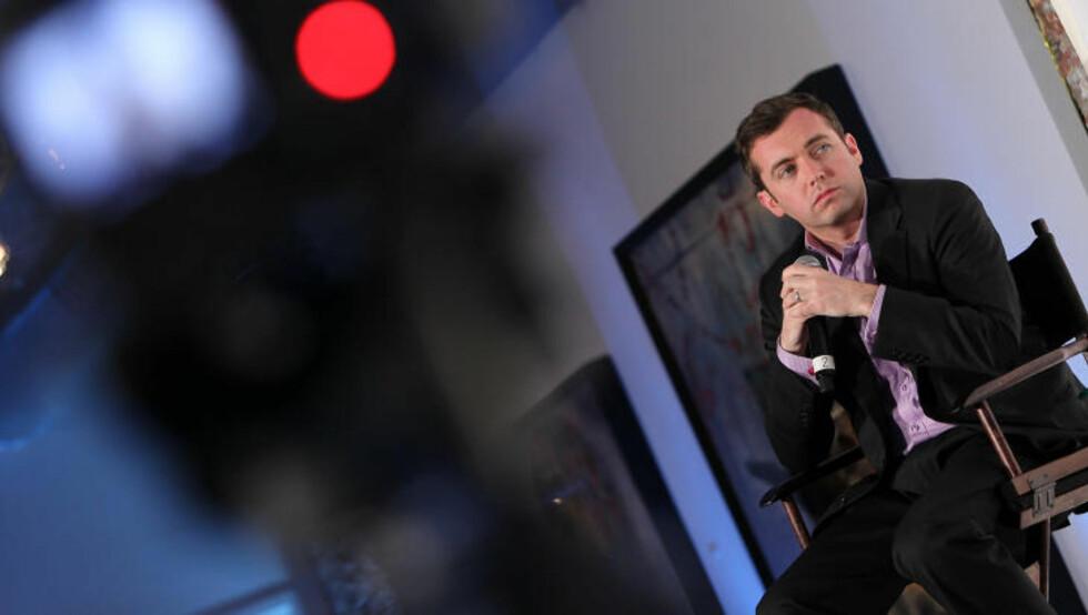 MAI 2012: Michael Hastings blir beskrevet som en grundig og uredd journalist. Her er han paneldeltaker under en The Guardian-debatt om politikk og medias rolle, mai 2012. Foto: Paul Morigi / Getty Images