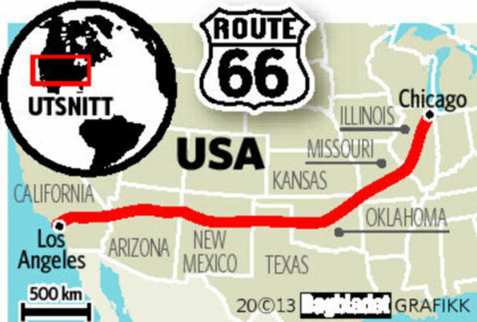 Opplever USA gjennom 400 mil, 17 dager, og sju delstater