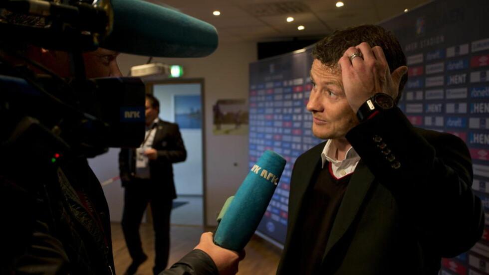 INGEN BOIKOTT:  Ole Gunnar Solskjær boikotter ikke lengre NRKs Erik Hattrem.  Foto: Svein Ove Ekornesvåg / NTB scanpix