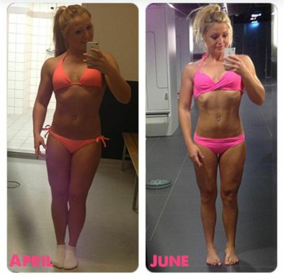 SYNLIGE RESULTATER: Hvis du fullfører en plan for treningen din, vil du kunne se tydlige forskjeller på kroppen din. Foto: Kristine Solhaug