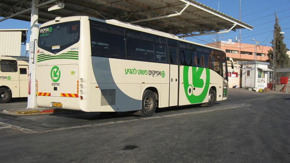 NY RUTE: Fra mandag morgen vil det være separate busser for palestinere og jøder på Vestbredden. Foto: Afikim.