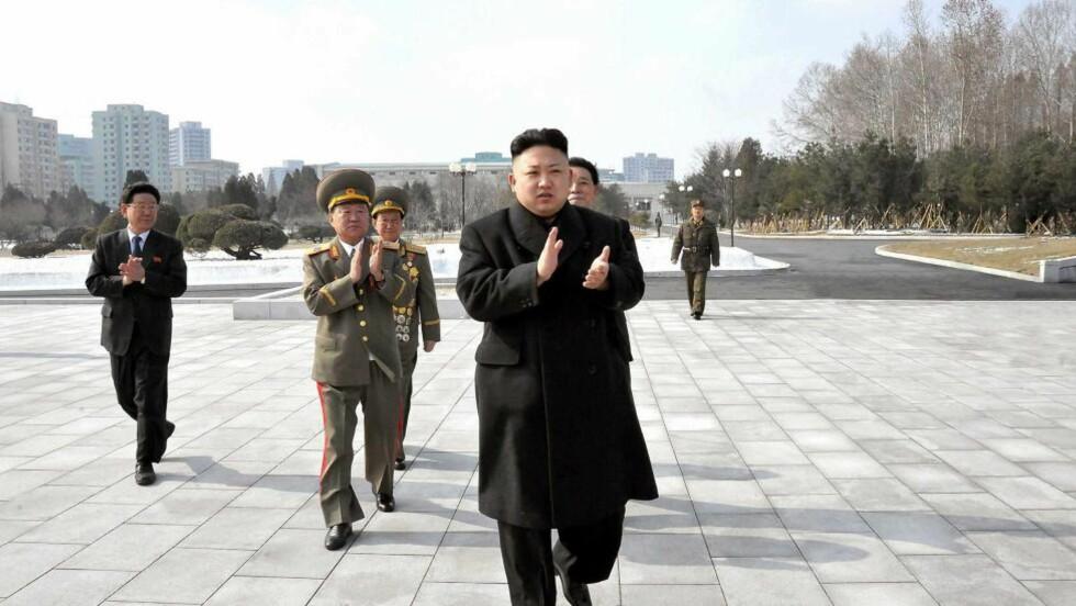 LEDER I NORD KOREA: Fildelingsnettstedet The Pirate Bay skal nå ha fått Nordkoreans nettleverandør. Ifølge avisa Los Angeles Times hevder The Pirate Bay at det er det Kim Jong-un, leder i Nord-Korea, som personlig har invitert fildelingsnettstedet til landet. Foto: Scanpix