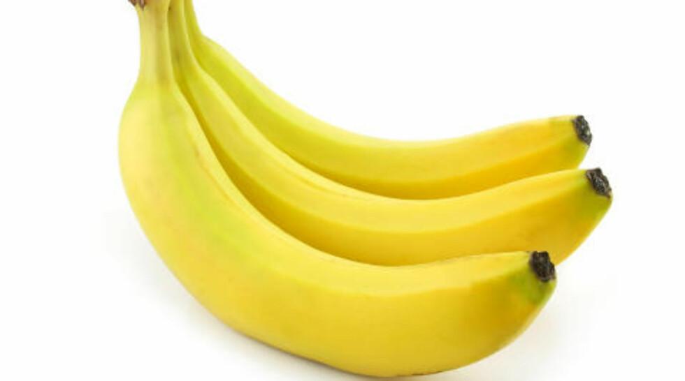 ANTIRYNKE Prøv banan mot rynker.Foto: COLOURBOX