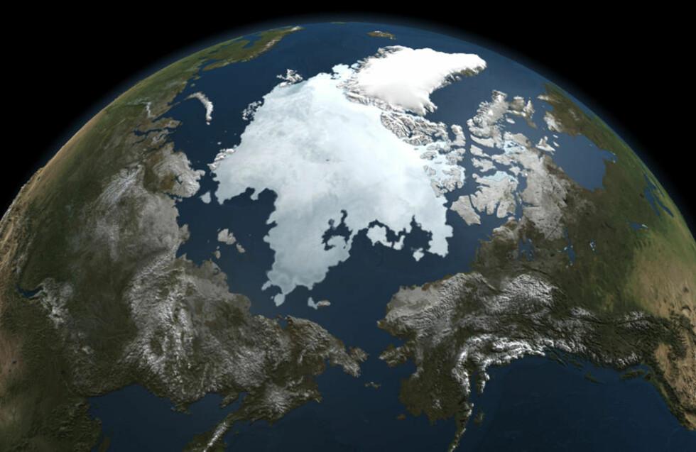 GLOBAL OPPVARMING: Forskere har funnet ut at klimaet aldri har endret seg raksere enn i det siste århundret. Foto: AFP / NASA