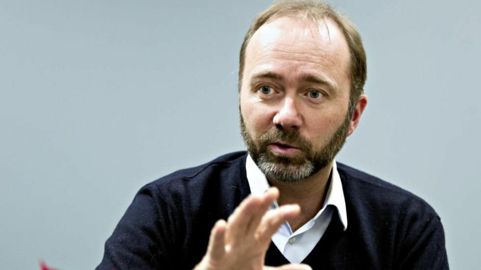 VIL HA GRUVE: Næringsminister Trond Giske, som i dag la fram mineralstrategi. Foto: Torbjørn Berg / Dagbladet.
