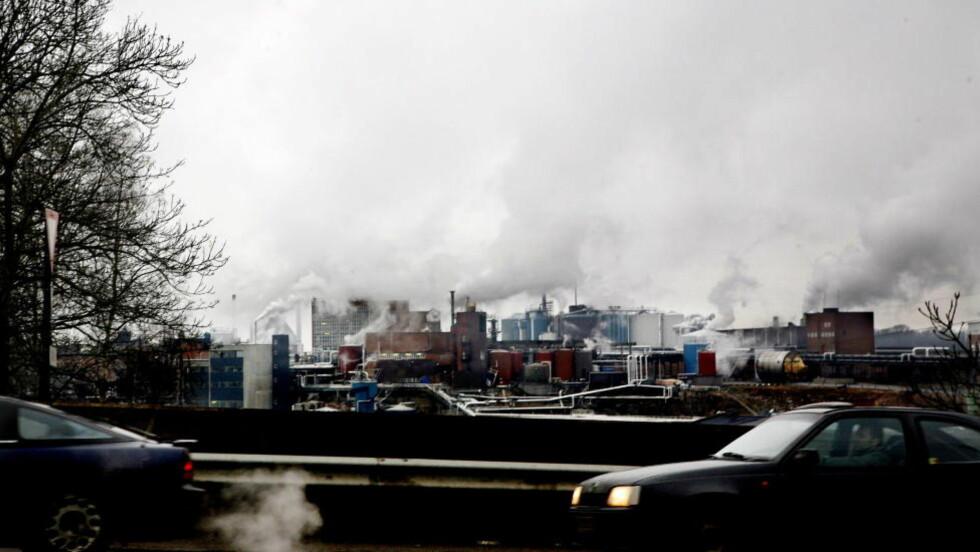 UTSLIPP: Sarpsborg ble i 2007 kalt en miljøversting med et av landets største utslipp av klimagasser. Foto: Kristin Svorte/Dagbladet