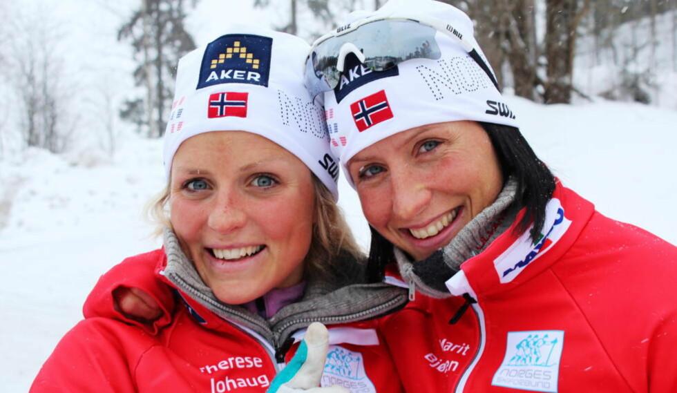 HENGES UT: Therese Johaug, Marit Bjørgen og flere av de andre skijentene sjikaneres på en pornonettside. Foto: Magnus Aabech / NTB Scanpix