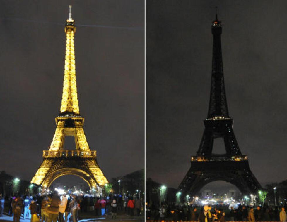 PARIS:  Slik så Eiffeltårnet ut i 2010. Foto: Bertrand Langlois / AFP Photo / NTB Scanpix