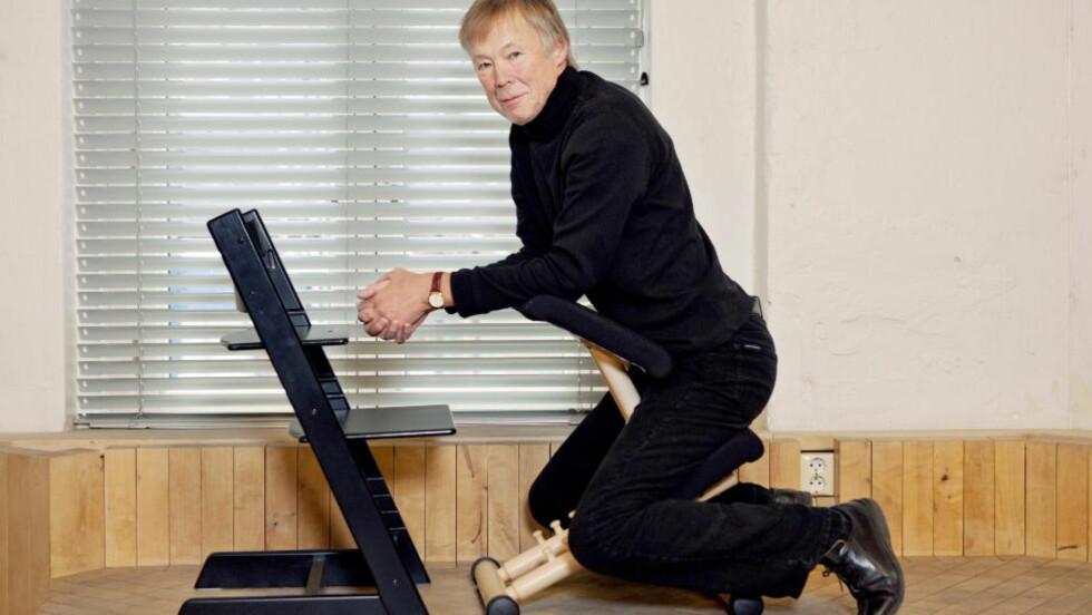 FIKK IKKE MEDHOLD: Den kjente industridesigneren Peter Opsvik, som blant annet står bak designsuksessen «Tripp trapp», prøvde å stanse designregistreringen til en av sine samarbeidspartnere. Han tapte på alle punkter. Arkivfoto: Elisabeth Sperre Alnes/Dagbladet