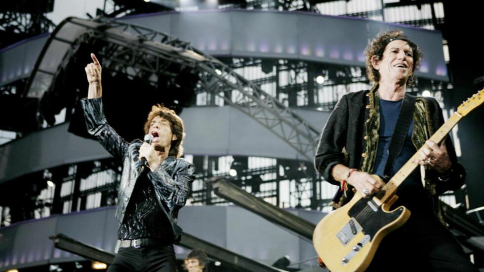 PÅ FESTIVAL:  Rockebandet Rolling Stones er klare den britiske Glastonbury-festivalen. Her rocket de scenen på Valle Hovin i Oslo i 2007. Foto: Torbjørn Grønning / Dagbladet