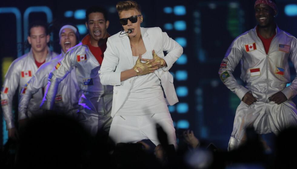 UNGPIKEIDOL: Kanadiske Justin Bieber har smeltet mange pikehjerter. 23. og 24. september gjester han Telenor Arena. Her fra konserten på operataket i 2012. Foto: Lars Eivind Bones / Dagbladet