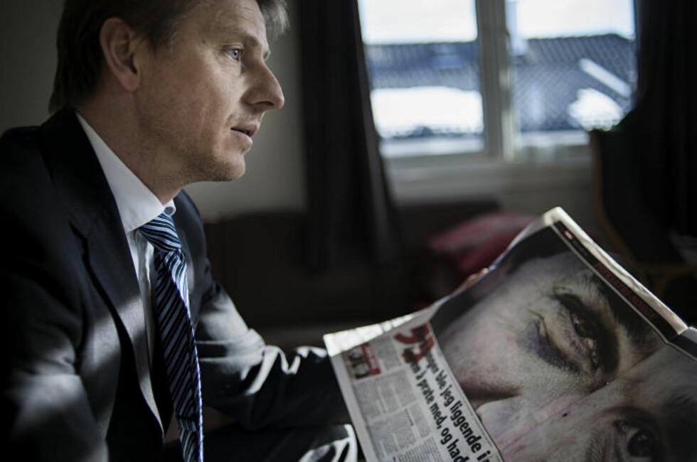 KRITISK: Advokat Gisle Thorsen mener Kontrollkommisjonen for psykisk helsevern sviktet da 37-åringen ble liggende 28 døgn i belteseng på Veum. Foto: Benjamin A. Ward / Dagbladet