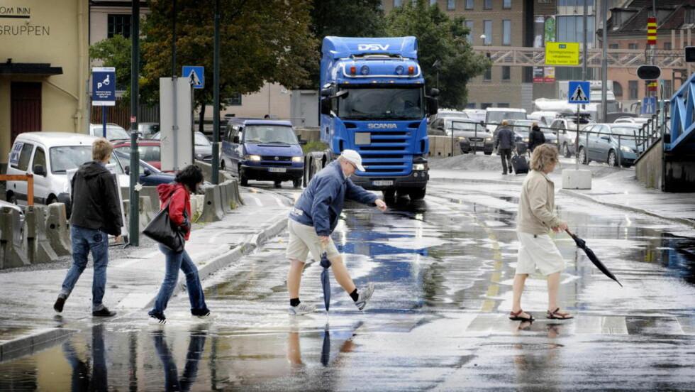 VÅTERE: Regnvær i Oslo. Regjeringens verstefallsscenarie viser 50 prosent økning i nedbørsmengden i mange områder, enten høst, vinter, vår eller sommer. Foto: JOHN TERJE PEDERSEN