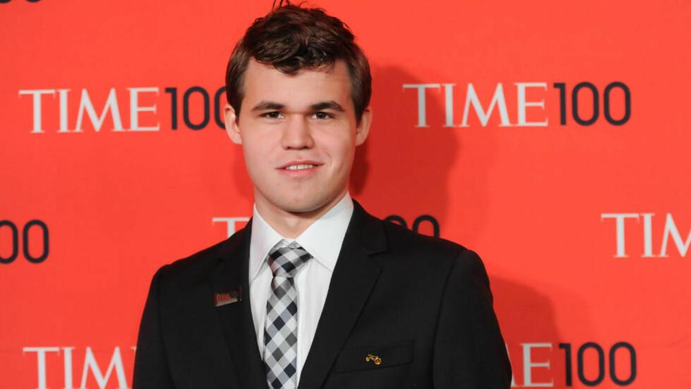 KJENDIS: Magnus Carlsen har ikke tid til så mye sjakk når han er i New York og går på kjendisfester.Foto: Evan Agostini/Invision/AP