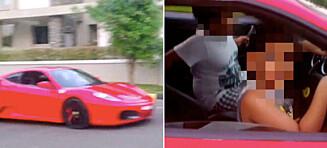 Millionær ble arrestert etter at han lot sønnen (9) kjøre Ferrari i nabolaget