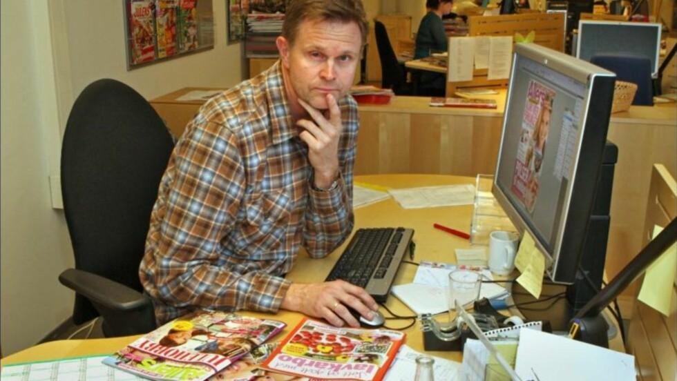 - MARERITT: Magnus Jansson (46) fikk en rakett i øyet under nyttårsfeiringen 2010. Nå er han nesten blind på høyre øye. Foto: Curt Hjerstedt / Norges Blindeforbund