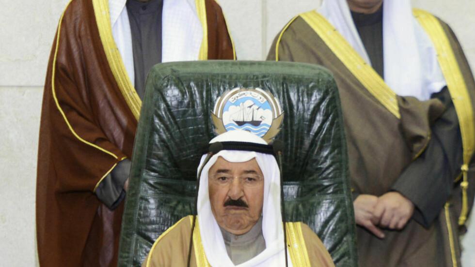 - FORNÆRMET: Kuwaits emir Sjeik Sabah al-Ahmad al-Sabah reagerte på det en aktivist skrev på nettstedet Twitter. Foto: Reuters / NTB Scanpix