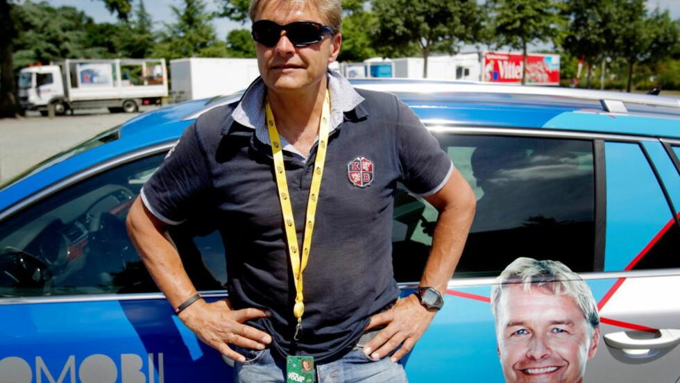 - IKKE TVIL: - Det er ikke tvil om at det var dop i TVM, sier Dag Otto Lauritzen. Her er han på plass for å dekke Tour de France for TV2 i fjor. Foto: Stian Lysberg Solum / SCANPIX
